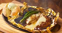 5種チーズの包み焼きハンバーグ