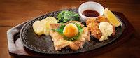 マテ茶鶏のチキンステーキ&牡蠣フライ~さっぱりおろしソース