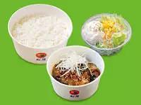 豚と茄子の辛味噌炒め定食ポテトサラダセット